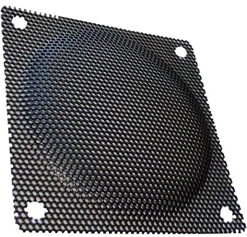 Aerzetix: Schwarz Schutzgitter Lüftungsgitter 80x80mm Ventilation für Lüfter Gehäuse Computer PC C15148