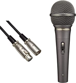 【セット買い】audio-technica キャノンケーブル ATL458A/5.0 マイク用 5.0m XLRコネクタ オス-メス & audio-technica ダイナミック型ボーカルマイクロホン プロテクトリング付き AT-X11 ブラック