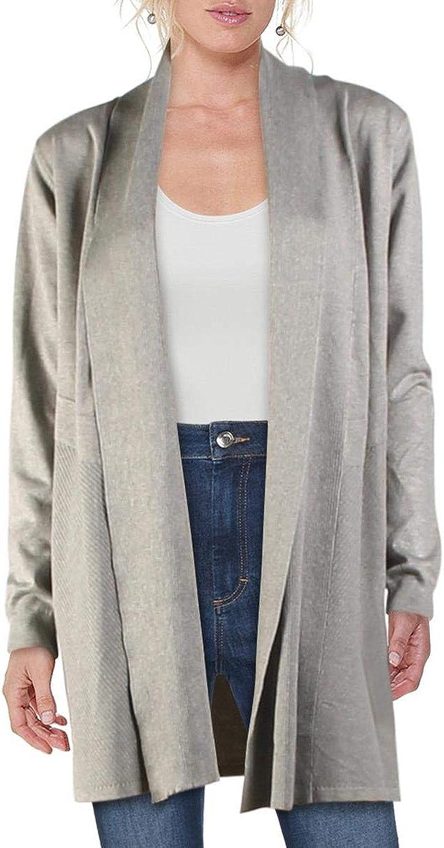 philosophy Womens Long Layered Cardigan Sweater Gray M