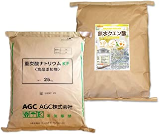 AGC製 重曹 25kg + 無水 クエン酸 25kg セット [02] 【同梱不可】NICHIGA(ニチガ)