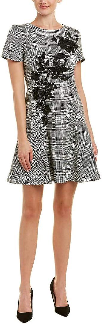 Betsey Johnson Women's Short Sleeve Checked Dress