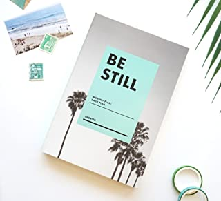 BE STILL Undated Monthly Daily Planner with Coloring postcard (Palm Beach)