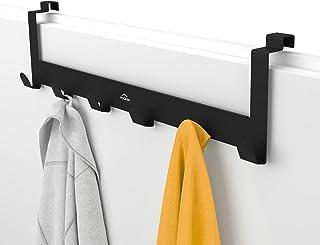 MDCASA Handdoekenrek voor achterdeur zwart - Handdoekenrek voor deur - Handdoekenrek voor badkamer - Handdoekenrek voor de...