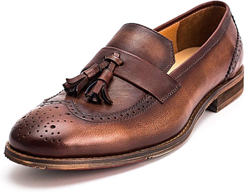 Mann Läder Skor England England England Tassels herrar skor Round Head läder Andable  billigaste