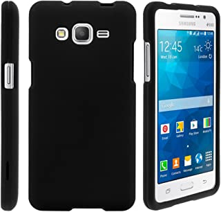 TurtleArmor | Compatible with Samsung Galaxy Grand Prime Case | G530 | Go Prime [Slim Duo] Slim Snap On 2 Piece Hard Cover Protector Matte on Black - Black