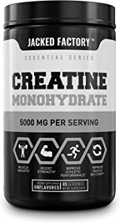 Creatine Monohydrate Powder 5g - Premium Creatine Supplement for Muscle Growth, Increased Strength, Enhanced Energy Output...