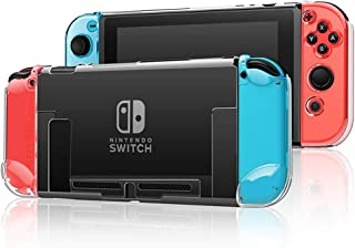 Dockable Switch Case for Nintendo Nintendo Switch Games Protective Hard Carrying Clear Cover Case for Nintendo Switch Cons...