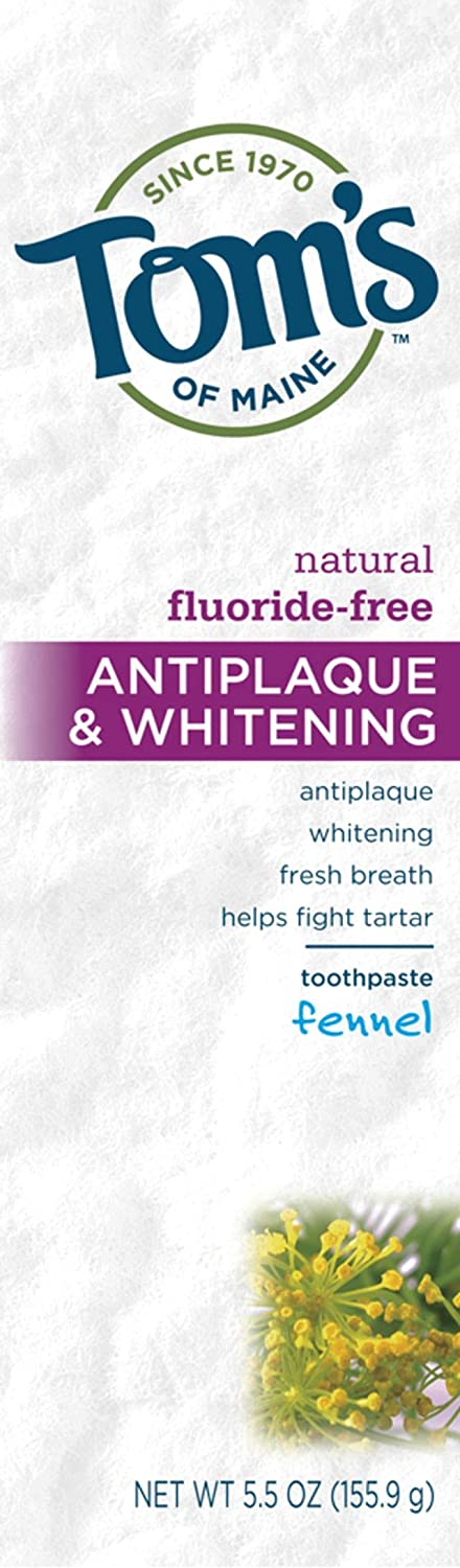 Tom's of Opening large release sale Max 79% OFF Maine Fluoride-Free Toot Antiplaque Whitening Natural