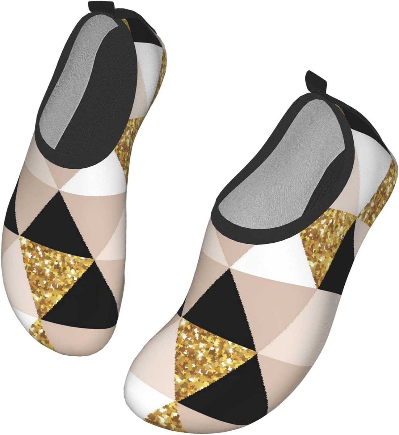 NA Color Square Brick Diagram Pattern Men's Women's Water Shoes Barefoot Quick Dry Slip-On Aqua Socks for Yoga Beach Sports Swim Surf