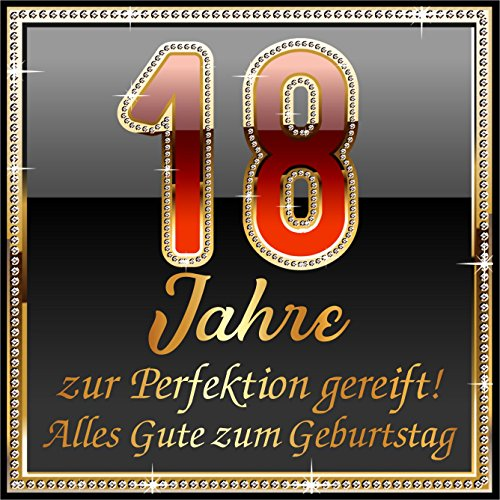 RAHMENLOS 3 St. Aufkleber Original Design: Selbstklebendes Flaschen-Etikett zum 18. Geburtstag: 18 JahreZur Perfektion gereift!