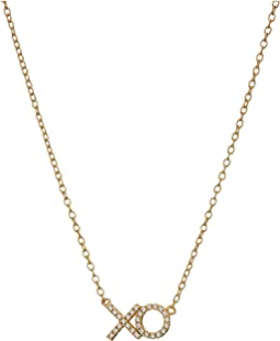 SHASHI - XO Pave Pendant Necklace