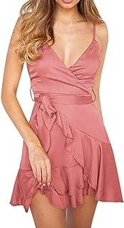 Women Sexy Dress Holiday Sleeveless Blackless V Neck Beach Evening Party Dress