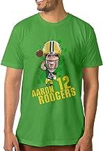KFE-Custom Cartoon Aaron Rodgers Design Men's Tshirts L KellyGreen