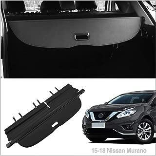 Autoxrun Car Retractable Black Cargo Cover Luggage Security Shade Cover ShieldFits 2015-2018 Nissan Murano