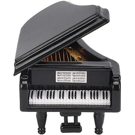 NOBRAND Modelo de Piano de Cola Negro Instrumento de Instrumento de música de Madera de Tilo en Miniatura Juego de Muebles y Accesorios de Sala de ...