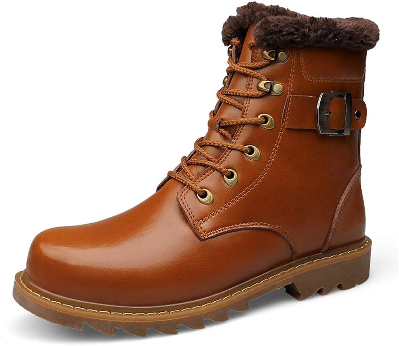 XUE Men's shoes,leatherAutumn Winter Martin Boots Men's Leather Boots High Cotton shoes (color   C, Size   40)