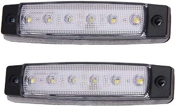 Yctze Lot de 4 feux de gabarit lat/éraux LED 12 V pour remorque et camion