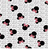 1/4 Yard - Minnie Mouse Sewing Fabric 100% Cotton - Fat Quarter (18' x 21')