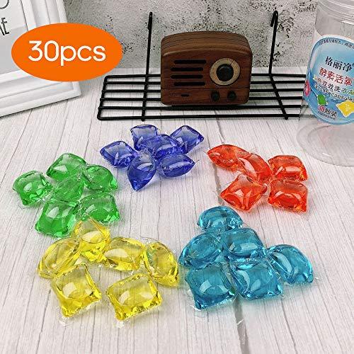 Festnight 3 in 1 Wäsche Gel Perle Tragbare Wäschekapseln Reiniger Fleckenentferner Farbschutz Duftverstärker Bunte Waschkugel Gel Perlen Konzentrierte Waschflüssigkeit