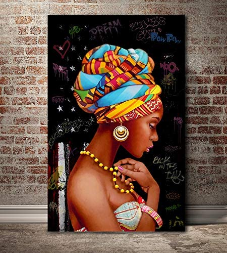 African woman wall art _image0