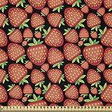 ABAKUHAUS Erdbeere Stoff als Meterware, Tropische reife