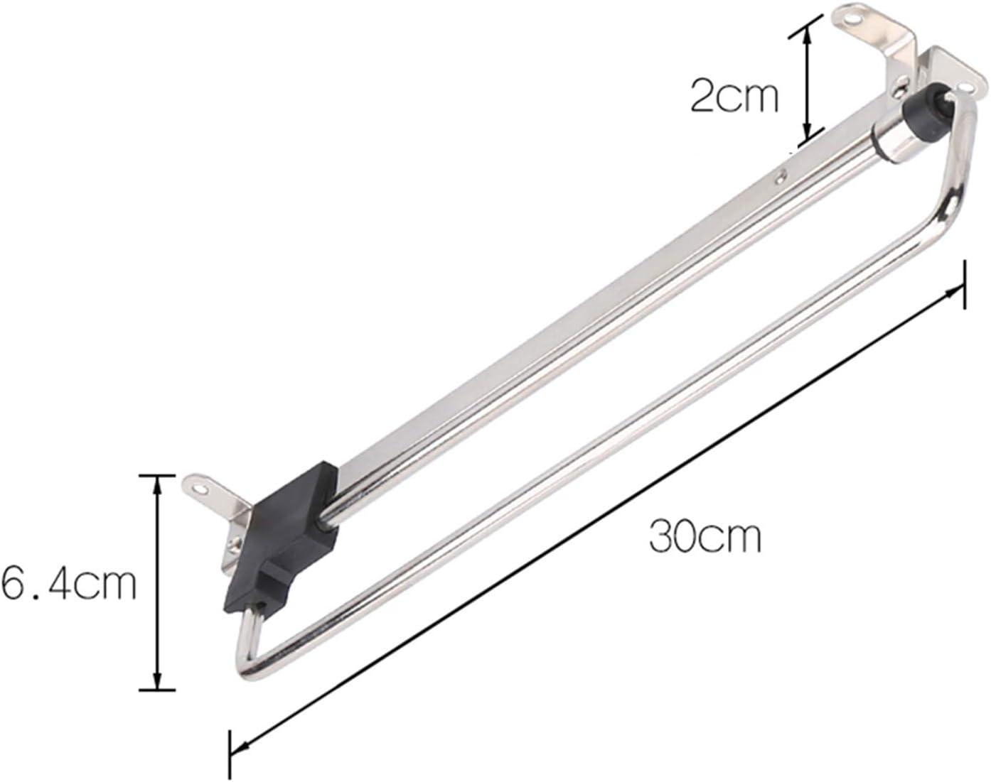 YYBD Appendiabiti Estraibile Lunghezza 25 cm // 30 cm // 35 cm // 40 cm // 45 cm Asta per Armadio estendibile montata in Alto portaoggetti per la casa