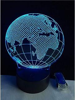 مصباح ليلي ثلاثي الأبعاد ، مزود بوصلة كرة أرضية ، كابل إضاءة للمكتب Android 4 ، مصباح طاولة دراسة متعددة الألوان بمنفذ USB