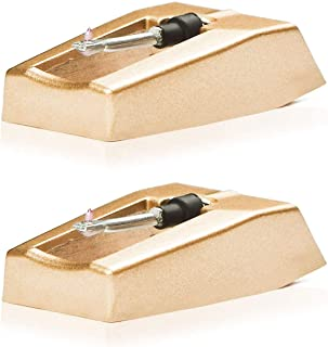 Record Player Needle Replacement w/ Diamond Tip - 2 -Pack - Compatible with Crosley, Jensen, Pyle, Detrola & More - Superi...