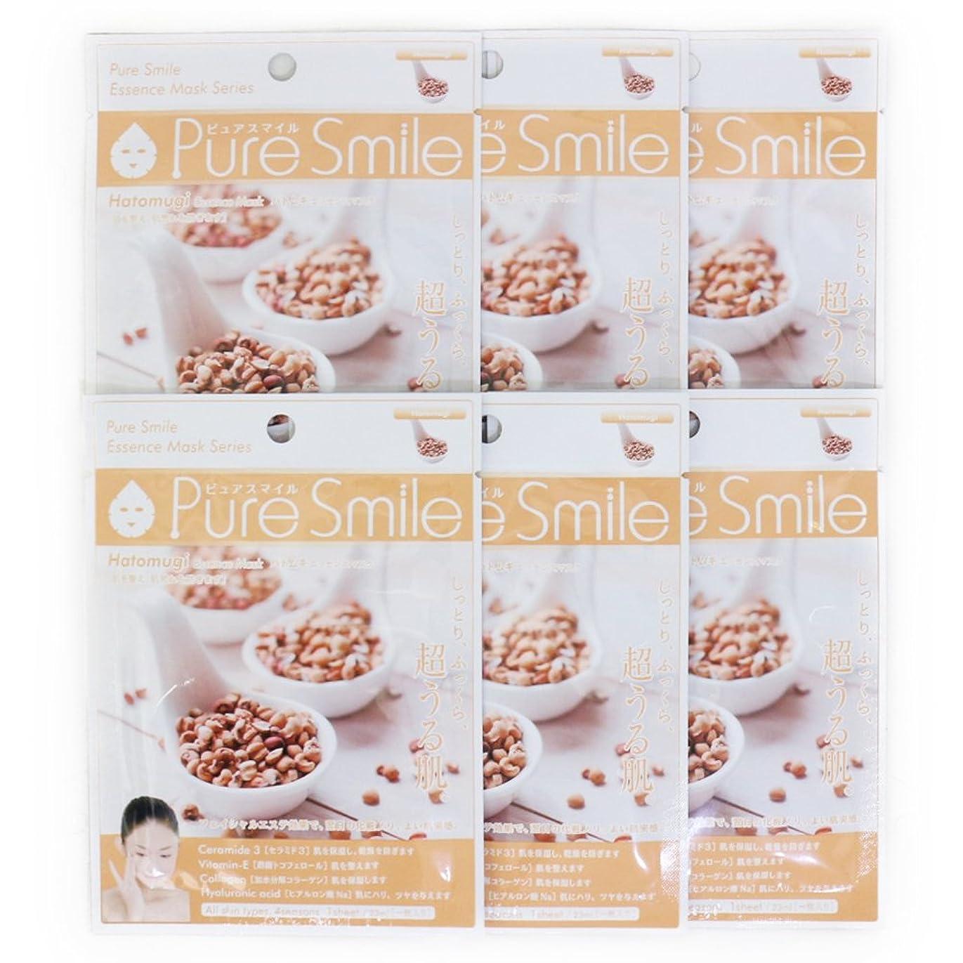 印象的なページェント廊下Pure Smile ピュアスマイル エッセンスマスク ハトムギ 6枚セット