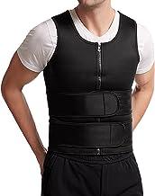 Hhwei Sauna Vest Mannen Neopreen Zweet Taille Trainer Tank Top Body Shaper Corset Compressie Workout Shirt