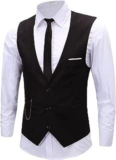 Men's Formal Dress Business Slim Fit Sleeveless Jacket Vest Waistcoat