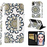 iPhone Xs Case,iPhone X Case, UZER 3D Premium PU Leather Shockproof [Kickstand Feature][Wrist Strap] Folio Flip Wallet Case with Cash/Card Slots Durable Magnetic Book Case for iPhone Xs/iPhone X 5.8'