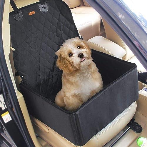e9a34d30b7b 2 in 1 Pet Dog Car Waterproof Single Front Seat Mat Booster Seat Pet Carrier  Seat