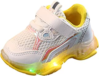 👍ONLY TOP👍 Teen Baby Girls Boys Anti-Slip Luminous Stars Shoes,for 1-6 Years Old,Kids Stylish LED Lights Up Sneakers