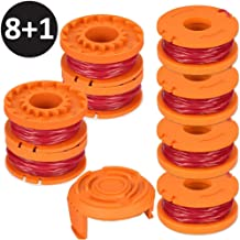 AblerV Replacement Trimmer Spool Line for Worx WG180 WG163 WA0010, Edger Spools Trimmer Line for Worx Weed Wacker Eater String Trimmer Spools Line Refills Parts pa6-gf30 Autofeed with Cap Cover