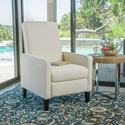 Best Christopher Knight Home Darvis Fabric Recliner, Beige
