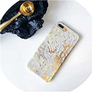 Hard PC Marble Case for iPhone Xs Max XR X 10 Fashion Green Leaves Full Cover Matte Phone Cases for iPhone 7 7plus 6s 6 8 Plus,10,for iPhone 6 6s