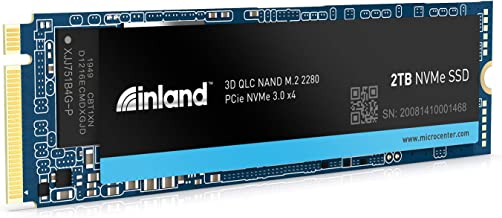Inland Platinum 2TB SSD NVMe PCIe Gen 3.0x4 M.2 2280 3D NAND Internal Solid State Drive, R/W up to 3,400/3,000 MB/s, PCIe Express 3.1 and NVMe 1.3 Compatible, Utimate Gaming Solutions (2TB)
