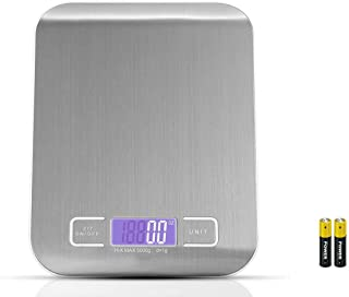 Royal Polar Digital Food Scale Kitchen Scale Slim Stainless Multifunction Scale With LCD Display And Tare Measuring Four Units Of Measure Conversion Batteries Included-Silver