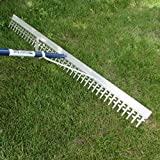 Product Image of the SEYMOUR MIDWEST Super 4-Ft Wide Heavy Duty Rake with Extendable 16-Ft Long Handle for Seaweed Beach screening Landscaping Raking and More