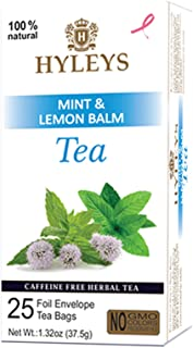 Hyleys Sleep Lemon Balm Herbal Tea - 25 Tea Bags (Caffeine Free, Gmo Free, Gluten Free, Dairy Free, Sugar Free & 100% Natu...