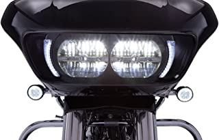 Fang Headlight Bezels for Harley Davidson Road Glide (Black)