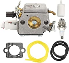 Milttor C3-EL18 Carburetor Fuel Line Filter Spark Plug Fit Husqvarna 503283210 340E 340EPA 345E 345EPA 346XP 350EPA 351EPA 353EPA Saw 503283208