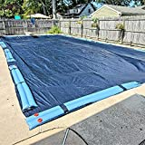 Winter Block Inground Pool Winter Cover, Fits 20' x 40' Rectangle, Solid Blue – Superior Strength & Durability, Treated for UV Protection, WC2040RE, 20' X 40'