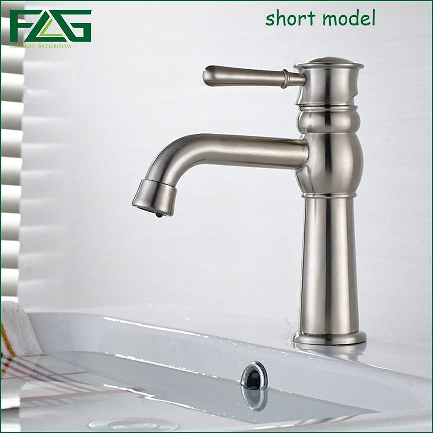 Maifeini ?New Bathroom Heat From The Deck Of The Cold?304?Stainless Steel Sinks Faucets??Heat Sink Faucet Polish Nickel Water Mixer?, White