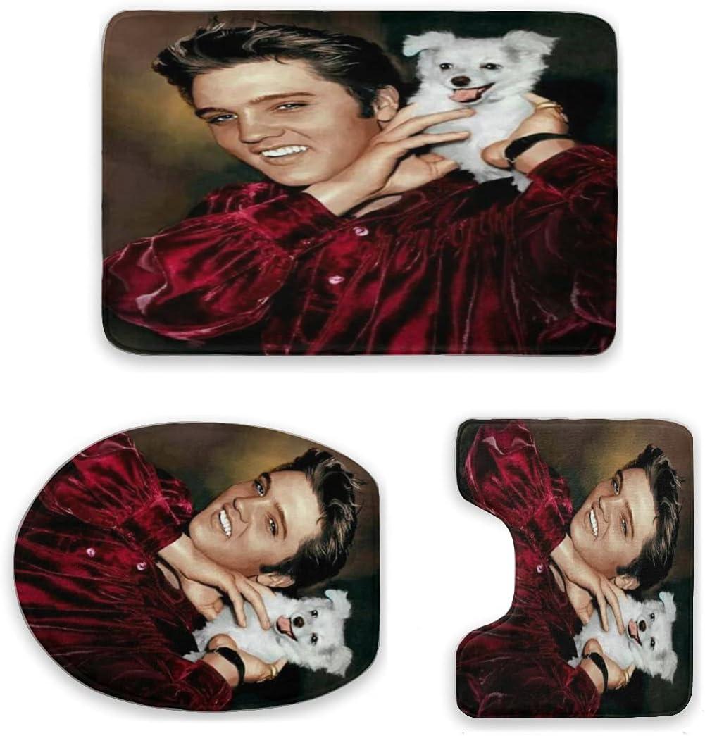 EILANNA 3 Piece Bathroom Rug Set 3D Star Ki The Elvis Print SALENEW very New Shipping Free Shipping popular Rock