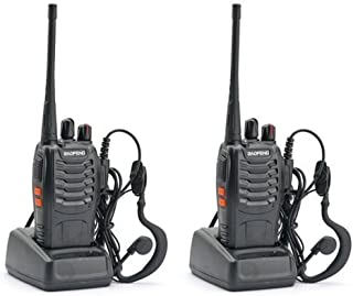 Baofeng BF-888S Rechargeable Two-Way Radios with UHF 400-470Mhz 1500mAh Li-ion Battery Walkie Talkies for Long Range-2 Pack