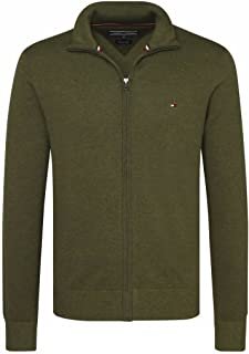 Tommy Hilfiger Cotton Silk Buttoned Zip Mock Felpa Uomo