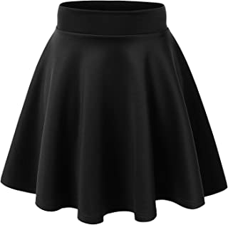 MBJ Womens Basic Versatile Stretchy Flared Skater Skirt - Made in USA