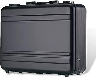 Tokers Aluminum Briefcase Attache Cases for men Laptop Metal briefcases (Black, 14.5X10.6X4.5inch)